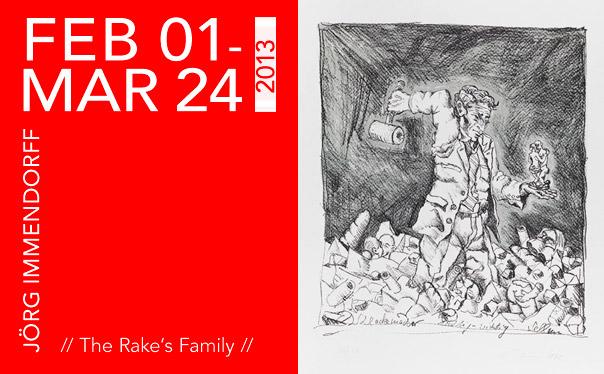 JÖRG IMMENDORFF // The Rake's Family // Klonaris Fine Art